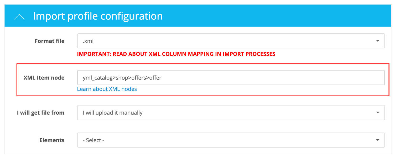 Opencart Import Export PRO Node XML example